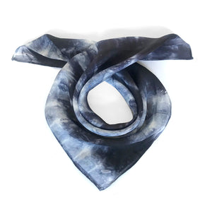 INK SILK NECKERCHIEF SCARF