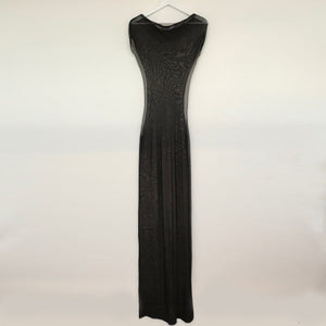 Black Sheer Cut Out Maxi Dress