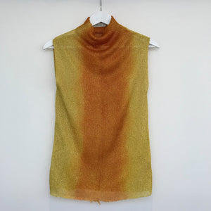 Yellow Hand Dyed Luex Top