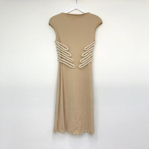 Ribs Silk Tulle Dress