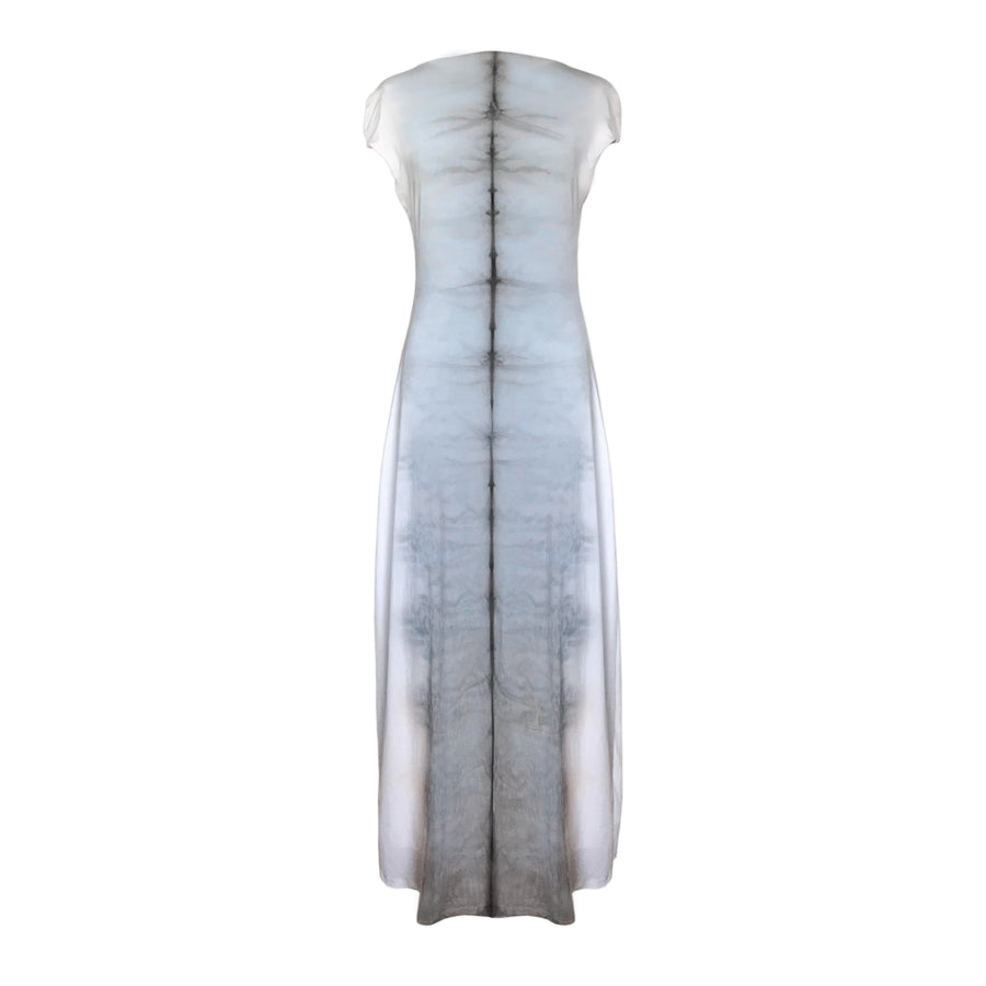 ICE BLUE SHIBORI MAXI DRESS