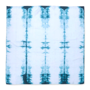 TURQUOISE SILK ICELAND SCARF