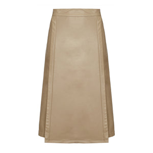 riona treacy vegan leather skirt