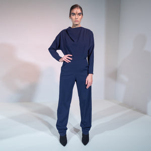NAVY LONG SLEEVE JUMPSUIT