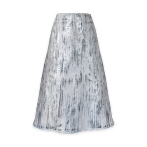 WHITE VEGAN LEATHER SKIRT