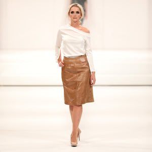 RECYCLED LEATHER SKIRT