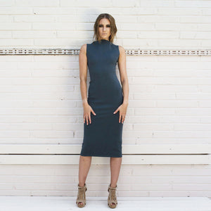 BLUE NEOPRENE SHARK DRESS
