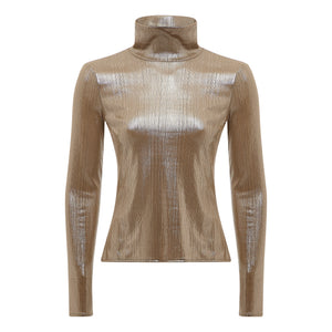 GOLD POLONECK TOP