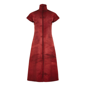 riona treacy red neoprene dress aw19