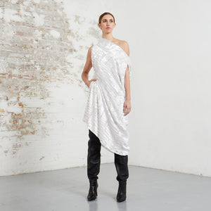 DEVORÉ RHOMBUS DRESS