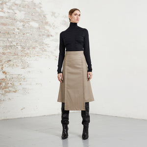 VEGAN LEATHER SAMURAI SKIRT