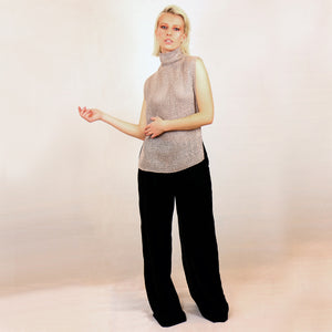 Silk Turtle Neck Top