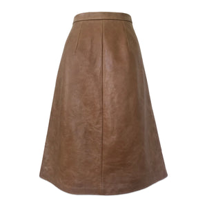 TAN LEATHER SKIRT