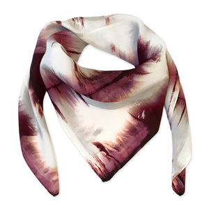 PURPLE SILK THISTLE SCARF