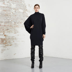 TURTLENECK STINGRAY DRESS
