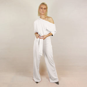 White One Shoulder Jumpsuit