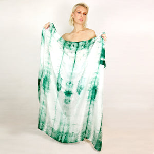 XL GREEN SILK ISLAND SCARF