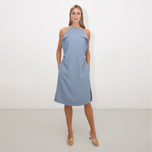 BLUE SQUARE CAMISOLE DRESS