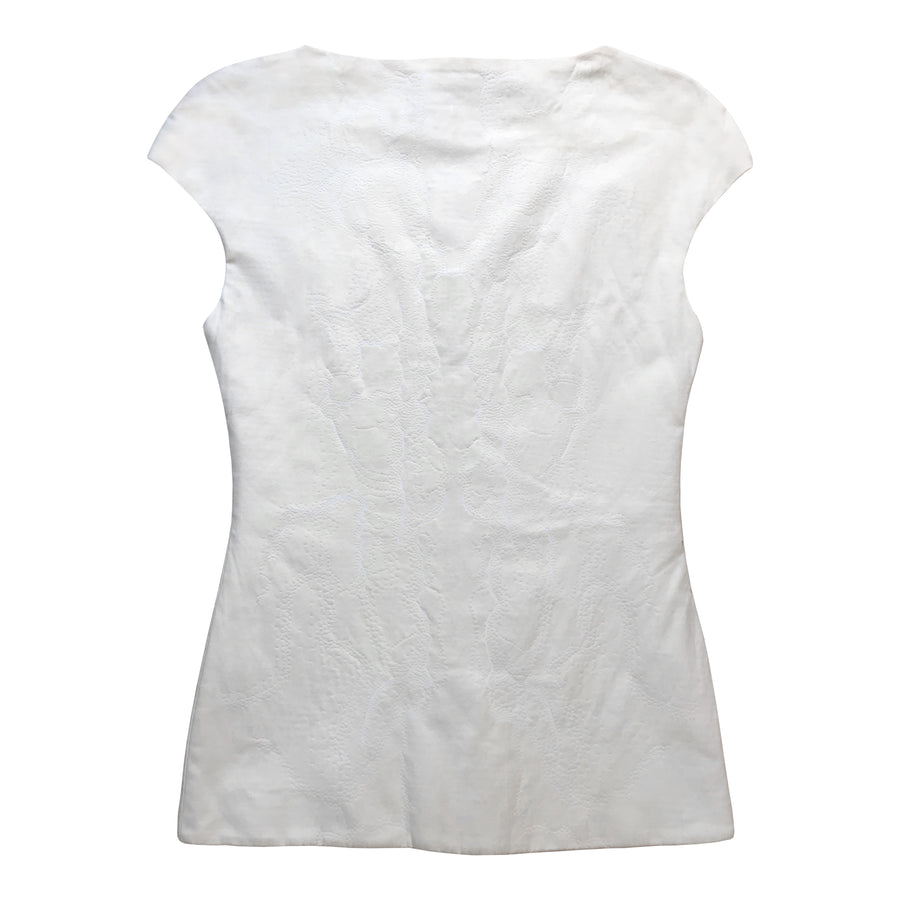 VEGAN LEATHER TOP Riona Treacy Off White