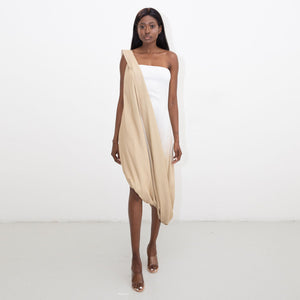 DIP-DYE ASYMMETRIC CLAN DRESS