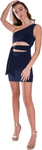 Kids One Shoulder Tie Side Dress