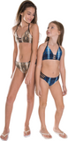 Girl's Brown Snakeskin Ladder Two Piece Bathing Suit