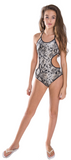 Girl's One Piece Snakeskin Bathing Suit