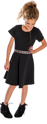Kids Stripe Dress with pearls - Cheryl Kids