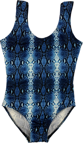 Kids Snakeskin One Piece Bathing Suit