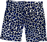 Juniors Cheetah Print Cotton Biker Shorts