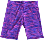 Juniors Space Dye Cotton Biker Shorts