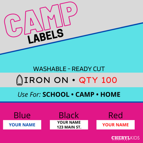 Iron On Camp Name Labels