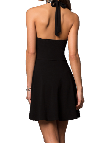 0224cd6f4 Cheryl Creations | Cheryl Creations. Available in 2 Colors. Junior's Halter  Short Tie Back Party Dress