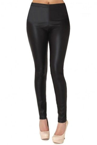 Juniors Tricot Shiny Leggings