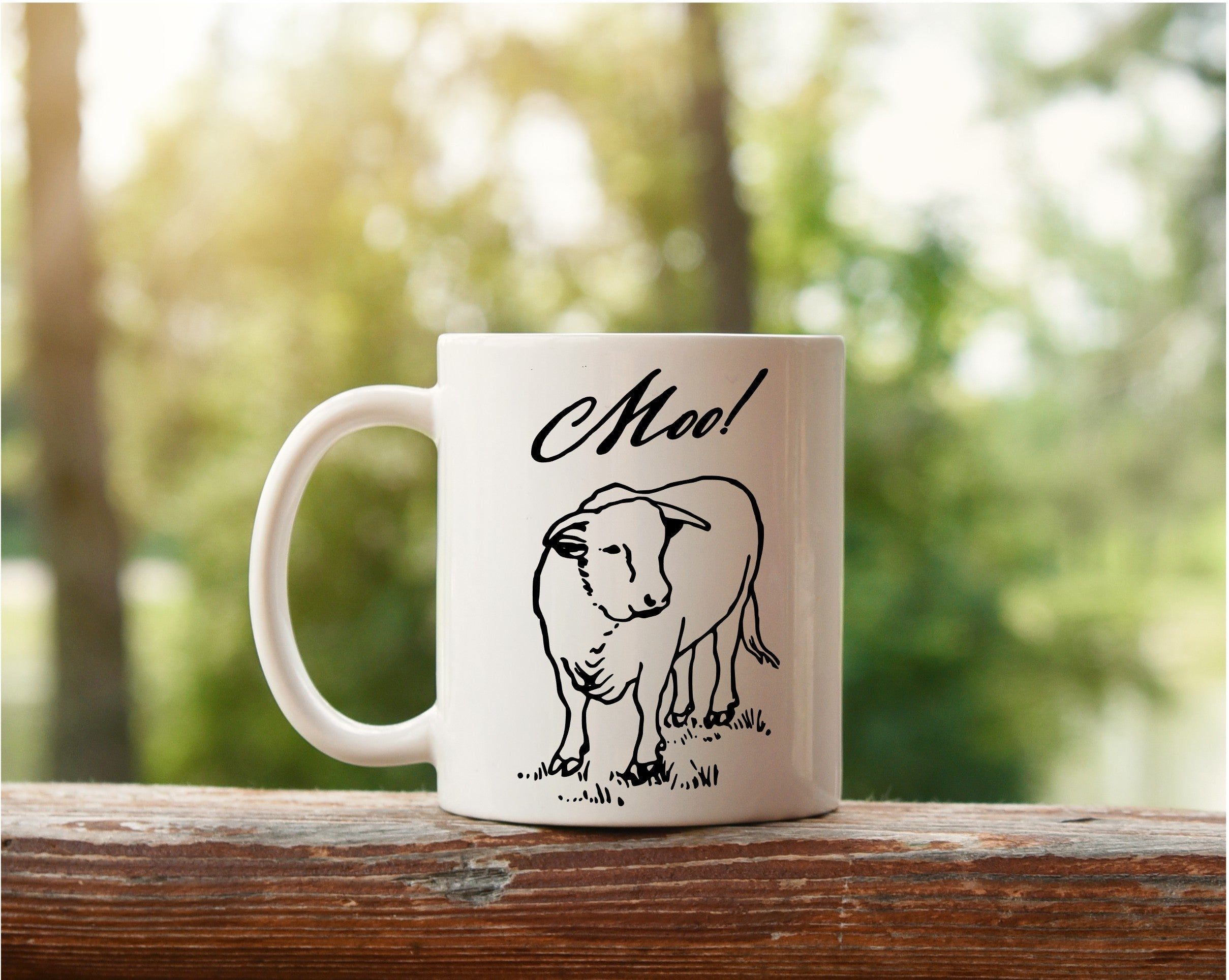 11 oz. Farmhouse Inspired Coffee Mug - Moo