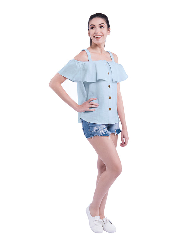 Shoulder Blade Sativa 188 Top - Blue