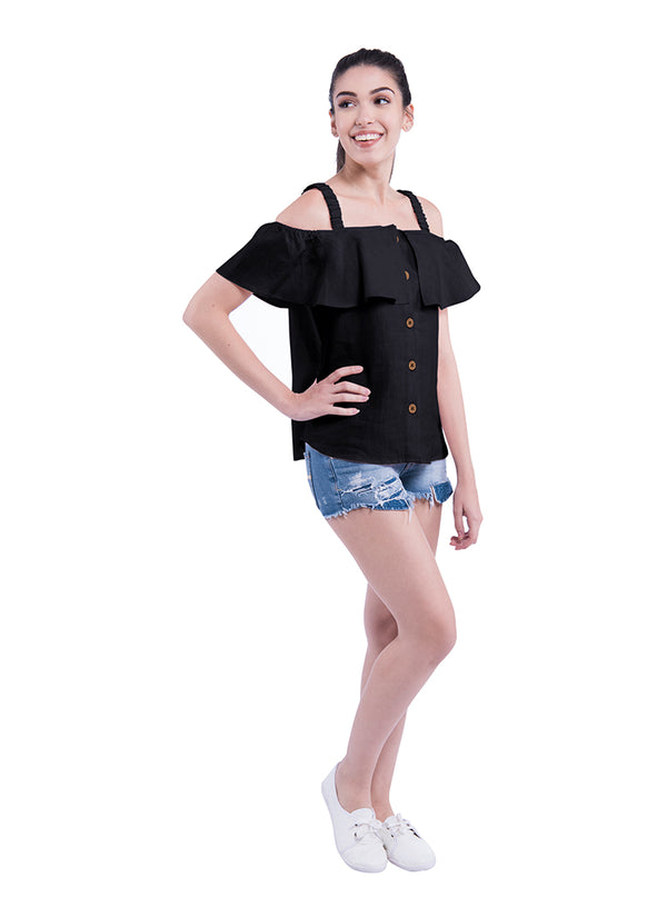 Shoulder Blade Sativa 188 Top - Black