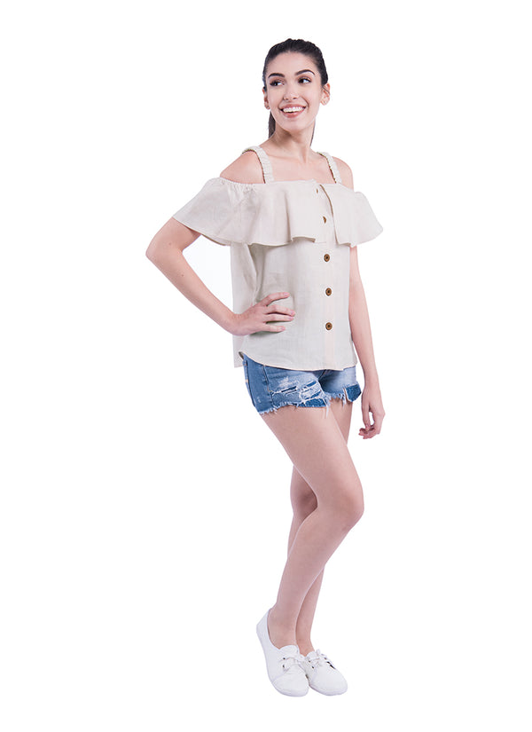 Shoulder Blade Sativa 188 Top - Beige