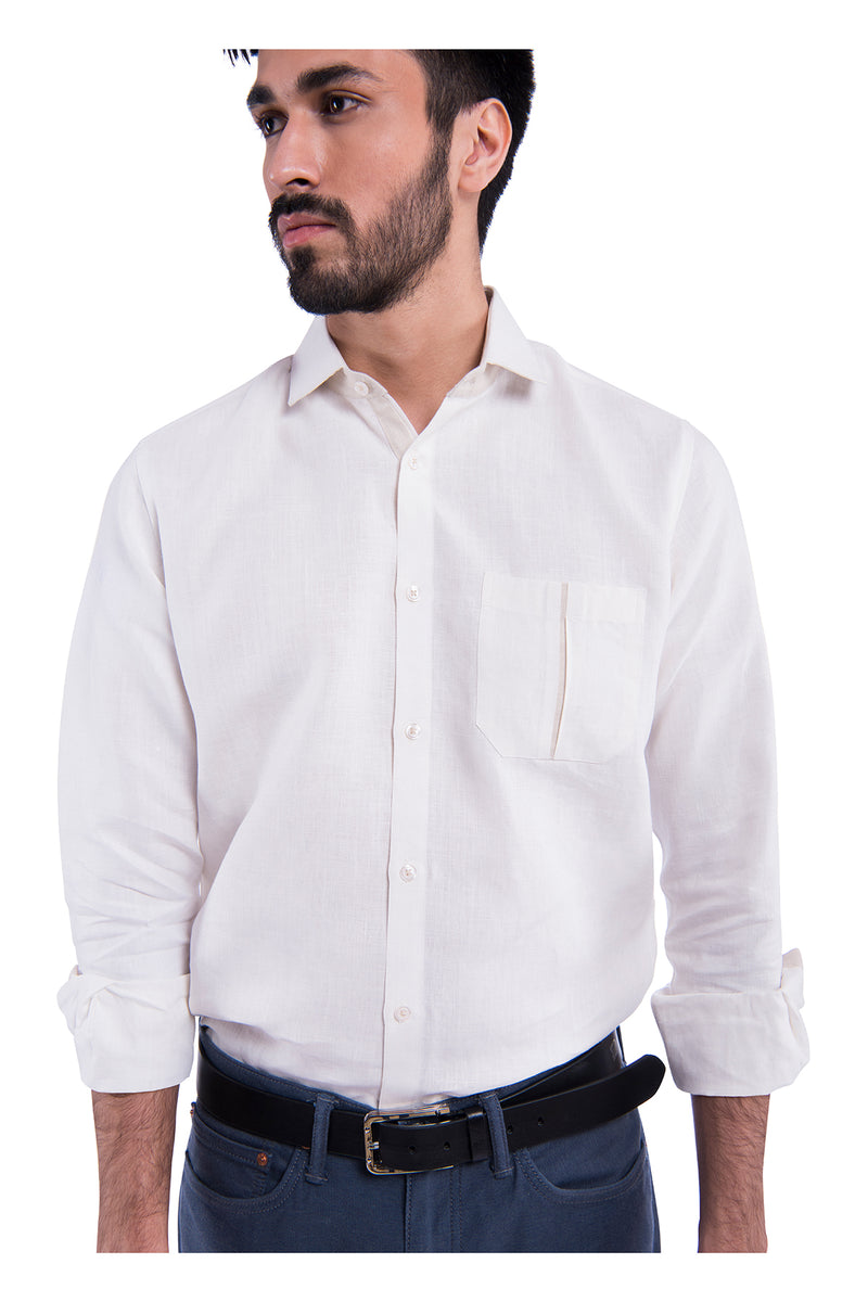 Stylised pocket Sativa 188 Shirt - White (Only Size 39 Left)