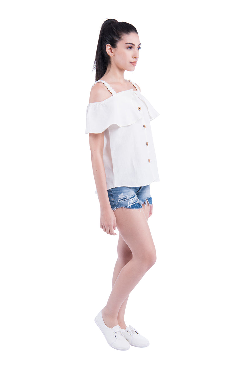 Shoulder Blade Sativa 188 Top - White