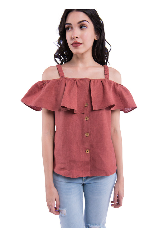 Shoulder Blade Sativa 188 Top - Rust