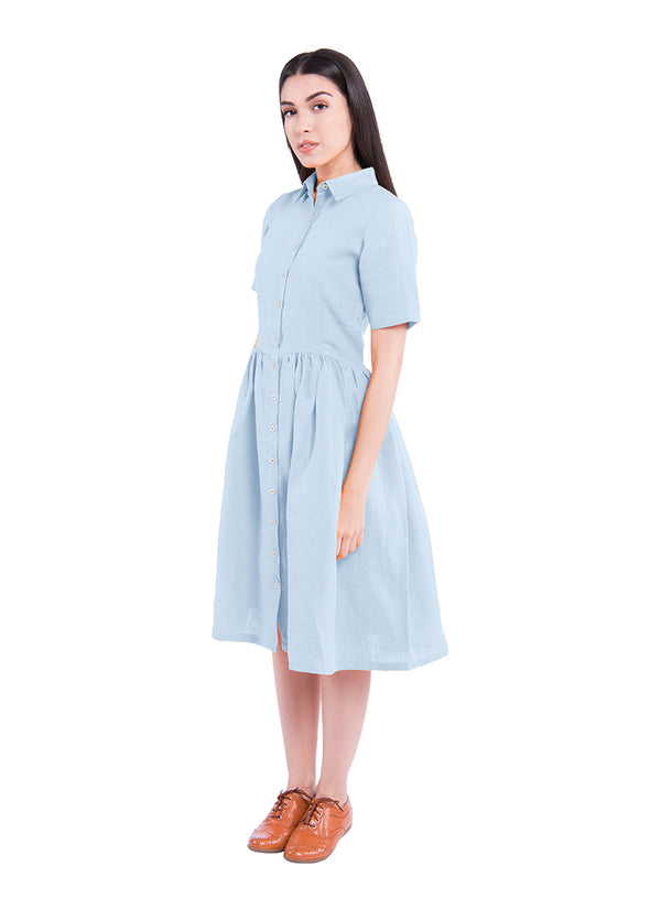 Windblown Sativa 188 Dress - Blue