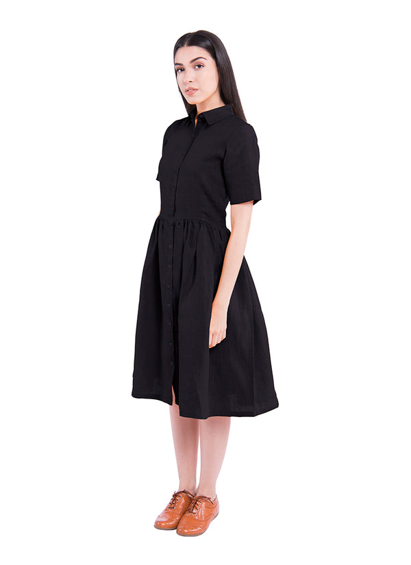 Windblown Sativa 188 Dress - Black