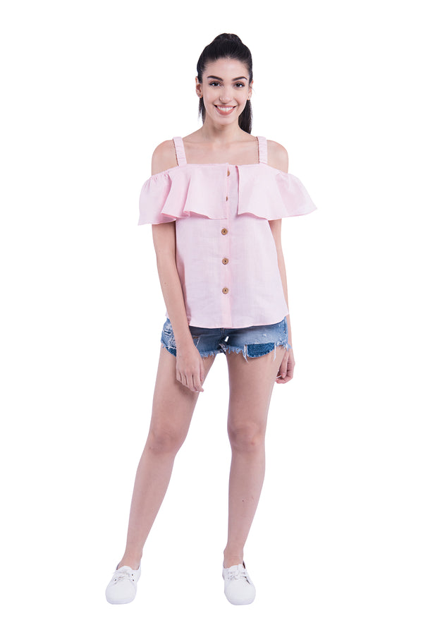 Shoulder Blade Sativa 188 Top - Pink