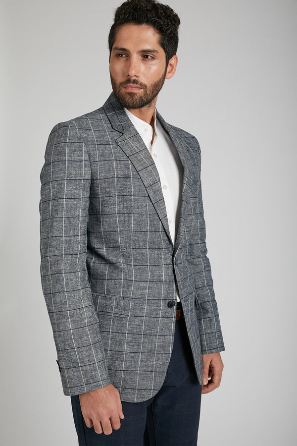 Firestone Formal Blazer - Blue Checks