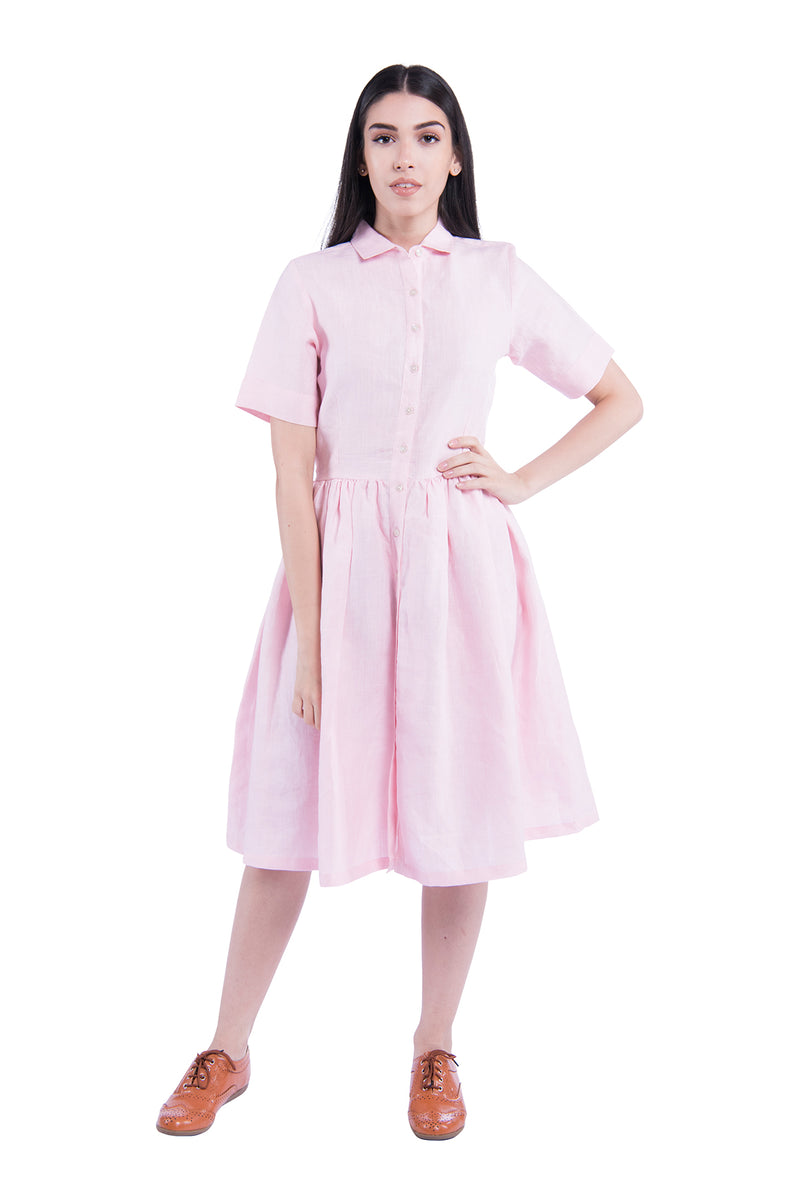 Windblown Sativa 188 Dress - Pink