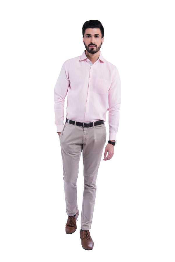 Contrast Trim Sativa 188 Shirt - Pink