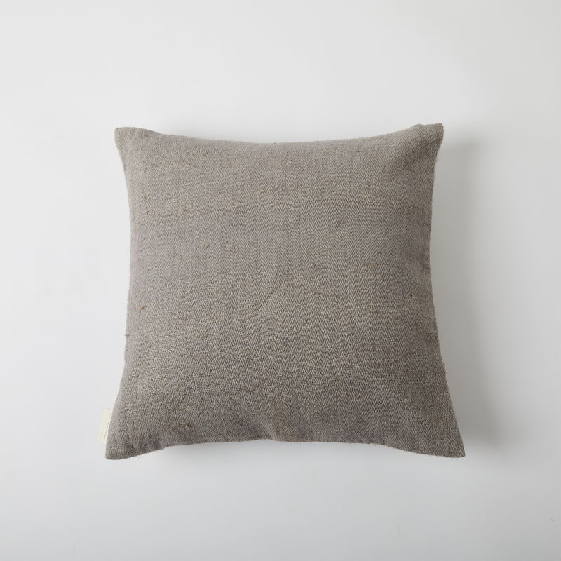 Aari Embroidered Cushion Cover - Grey