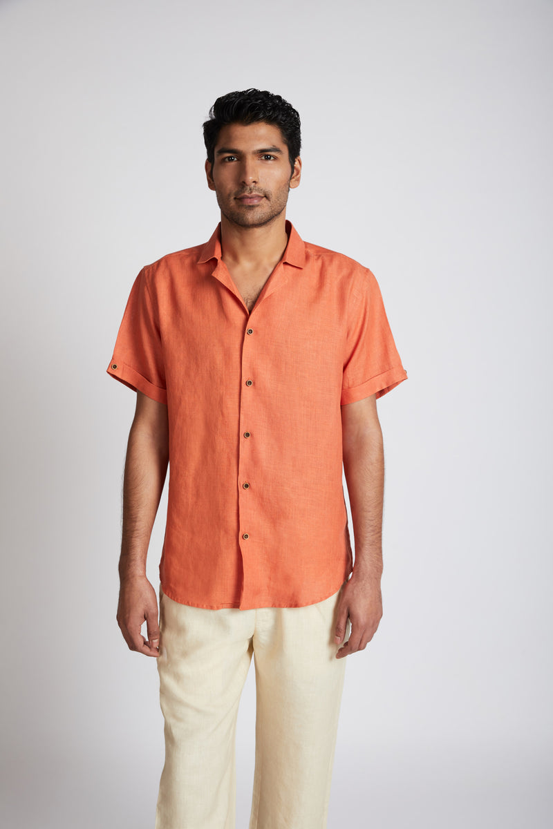 Arrow Resort Shirt - Orange