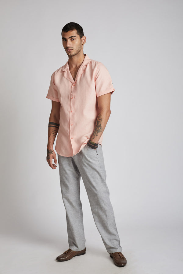 Arrow Resort Shirt - Peach (Only Size 40 left)